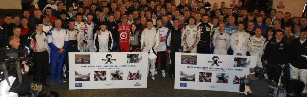 Dan Wheldon Memorial Kart Race Video